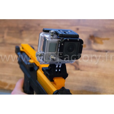Support GoPro sur rail Picatinny